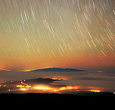Lights over Mauna Kea, HI